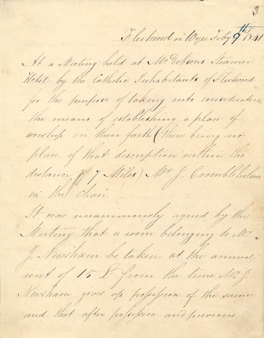 St Mary's 1841 Minute book - page 3